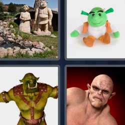 4 fotos 1 palabra ogro