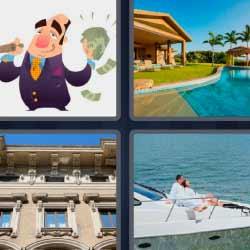 4 fotos 1 palabra millonario