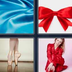 4 fotos 1 palabra tela azul
