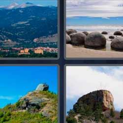 4 fotos 1 palabra roca paisaje