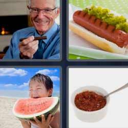 4 fotos 1 palabra sandía puro