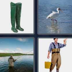 4 fotos 1 palabra hombre pescando