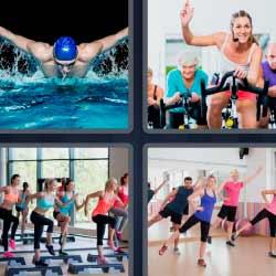 4 fotos 1 palabra nadador
