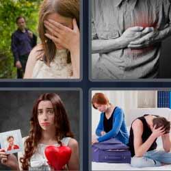 4 fotos 1 palabra infarto corazón