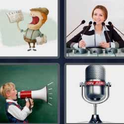 4fotos 1palabra megáfono micrófono