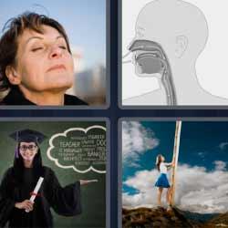 4 fotos 1 palabra señora dibujo boca