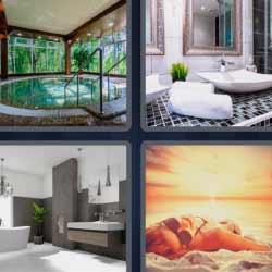 Cuarto de baño 4 fotos 1 palabra