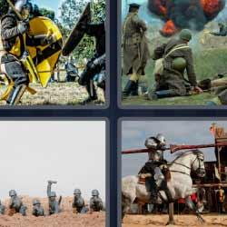 4 fotos 1 palabra guerras