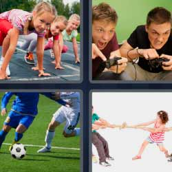 4fotos1palabra jugando play fútbol