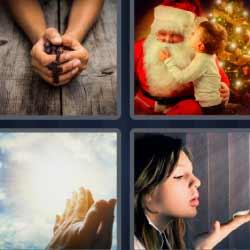 4 fotos 1 palabra Papa Noel