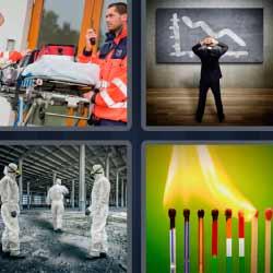4 fotos 1 palabra cerillos ambulancia