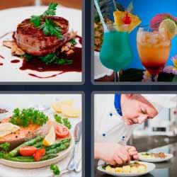 4 fotos 1 palabra cócteles chef
