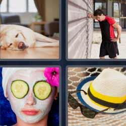 4 fotos 1 palabra pepino en ojos