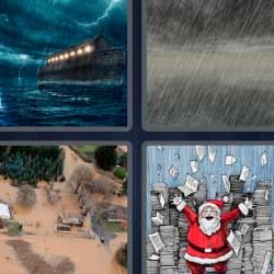 4 fotos 1 palabra tormenta inundación