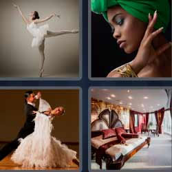 4 fotos 1 palabra bailarina