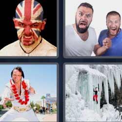 4 fotos 1 palabra bandera inglesa