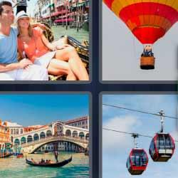 4 fotos 1 palabra Venecia globo teleférico