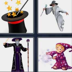 4 fotos 1 palabra magia sombrero magos