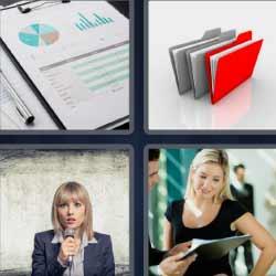 4 fotos 1 palabra gráficos folders mujer