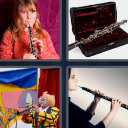 4 fotos 1 palabra flauta payaso