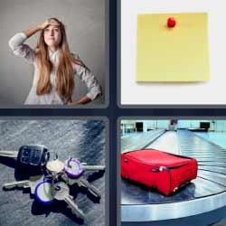4 fotos 1 palabra llaves carro maleta