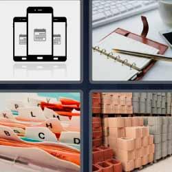 4 fotos 1 palabra celulares agenda