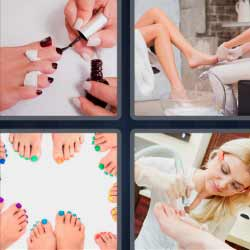 4 fotos 1 palabra pies uñas
