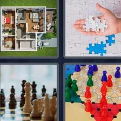 4 fotos 1 palabra maqueta casa