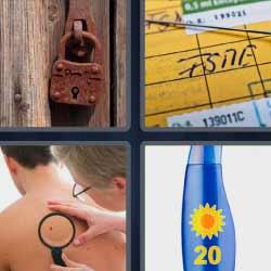 4 fotos 1 palabra candado oxidado