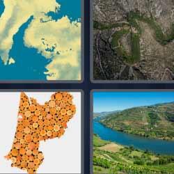 4 fotos 1 palabra imagen satelital río
