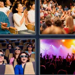 4 fotos 1 palabra escenario concierto gafas 4d