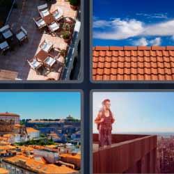 4 fotos 1 palabra tejado terraza