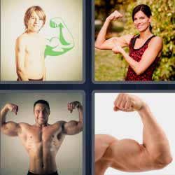 4 fotos 1 palabra músculos