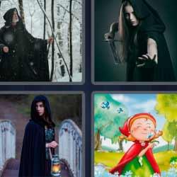 4 fotos 1 palabra mago en el bosque