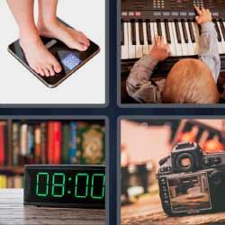 4 fotos 1 palabra tocando piano