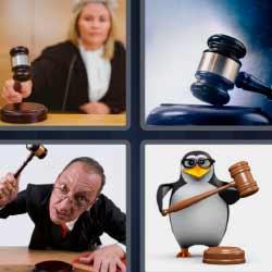 4 fotos 1 palabra jueza martillo