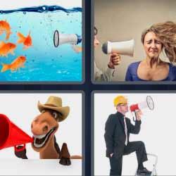 4 fotos 1 palabra altavoz