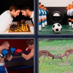 4 fotos 1 palabra partida ajedrez