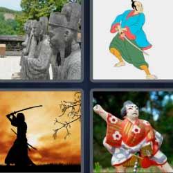 4 fotos 1 palabra estatuas chinas