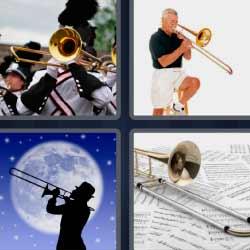 4 fotos 1 palabra trompetas