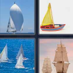 4 fotos 1 palabra barco vela