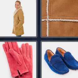 4 fotos 1 palabra zapatos azules guantes rosas