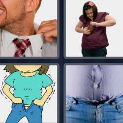 4 fotos 1 palabra cuello de camisa