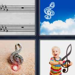 4 fotos 1 palabra pentagrama