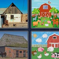 4 fotos 1 palabra establo