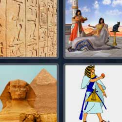 4 fotos 1 palabra faraón