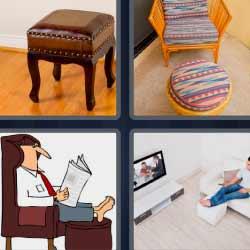4 fotos 1 palabra taburete sill n o silla leyendo