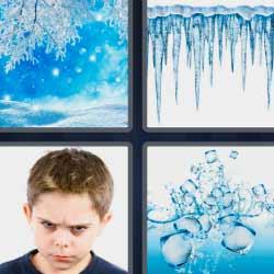 4 fotos 1 palabra congelado