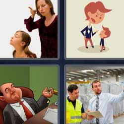 4 fotos 1 palabra regañando