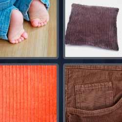 4 fotos 1 palabra pies de bebé cojín